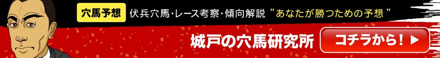「あなたを穴馬予想のプロにする!」という目的を掲げたサービス城戸の穴馬研究所の詳細を閲覧するリンクボタンです